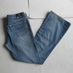 Vintage 90s Y2K denim flare blue jeans